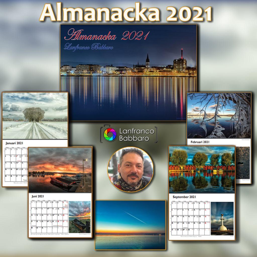 Lanfranco Babbaros Almanacka 2021 med bilder från Jönköping med omnejd
